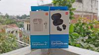 Mi True Wireless Earphones 2s dan Mi True Wireless Earbuds Basic 2. Liputan6.com/Mochamad Wahyu Hidayat
