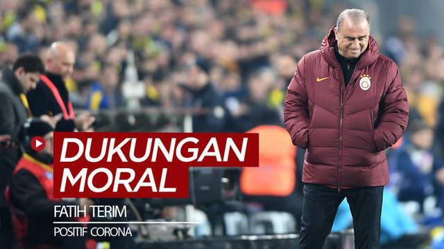 Berita video dukungan moral beberapa pesepak bola dunia untuk Pelatih Galatasaray, Fatih Terim, yang mengumumkan dirinya positif terjangkiti virus Corona.