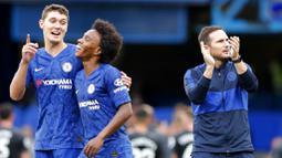 Lampard yang juga pemain andalan Jose Mourinho telah memainkan 215 laga bersama The Special One di sepanjang kariernya berseragam Chelsea. (Foto:AP/Frank Augstein)