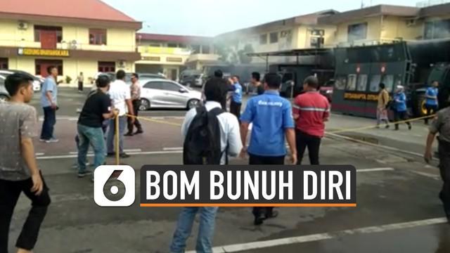Bom bunuh diri kembali terjadi, kini di Mapolresta Medan yang terjadi pada Rabu (13/11/2019) pukul 08.45 WIB.