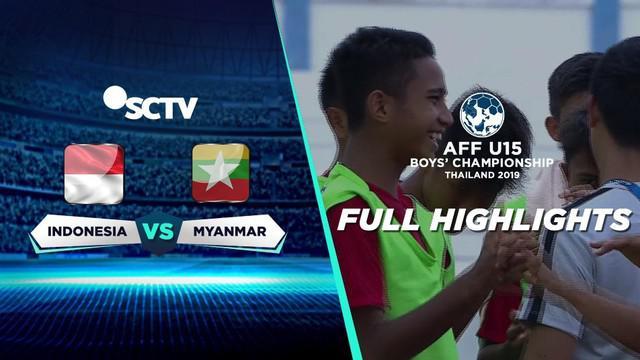 Berita video highlight Grup B Piala AFF U-15 2019 antara Timnas Indonesia U-15 melawan Myanmar U-15 yang berakhir dengan skor 5-0, Minggu (4/8/2019).
