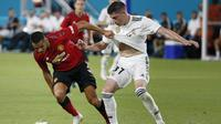 3. Federico Valverde - Bermain baik di Deportivo La Coruna selama satu musim penuh. Hal tersebut membuat Real Madrid menarik kembali pemain muda terbaik mereka. (AFP/Rhona Wise)