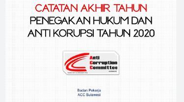 ACC Sulawesi merilis penyidikan mandek dua kasus dugaan korupsi proyek DAK di Sulsel sepanjang 2020 (Liputan6.com/ Eka Hakim)
