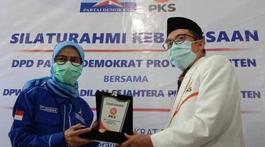 Demokrat Dan PKS Jajaki Koalisi Pilgub Banten 2024. (Rabu, 26/05/2021). (Liputan6.Com/Yandhi Deslatama).