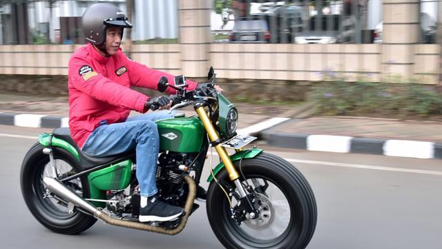 Begini Spesifikasi Motor Kustom Kawasaki W175 Milik Jokowi