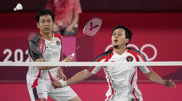 FOTO: Asa Hendra / Ahsan Kandas di Semifinal Olimpiade Tokyo