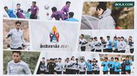 Kolase - Timnas Indonesia U-19, Shin Tae-yong, Logo Piala Dunia U-20 2021 (Bola.com/Adreanus Titus)