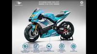 desain Yamaha YZR-M1 di MotoGP dengan sponsor dari Indonesia kreasi pria asal Aceh Zaenal Musthofa atau Topan. (Istimewa/ Topan)