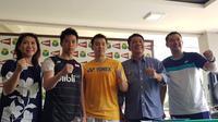 PBSI menargetkan satu gelar untuk para atlet Indonesia yang akan berlaga di All England 2018. (Bola.com/Zulfirdaus).