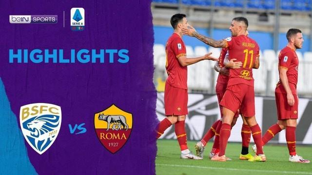 Berita Video Highlights Serie A, AS Roma Raih Kemenangan Telak Lawan Brescia