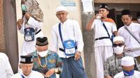 Jemaah calon haji Indonesia menyempatkan diri ke Masjid Jin. (MCH Indonesia)