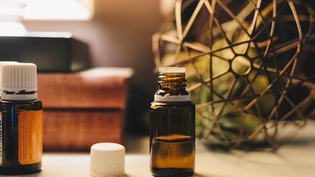 Illustration of essential oils