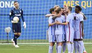 Barcelona sukses meraih kemenangan atas Girona FC pada laga uji coba pramusim yang digelar di Stadion Johan Cruyff, Barcelona, Sabtu (24/7/2021). (Foto: AFP/Pau Barrena)
