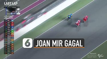 Nasib belum beruntung menimpa pembalap MotoGp Joan Mir karena diselip oleh dua pembalap ducati di lap terakhir dan tidak mendapatkan podium.