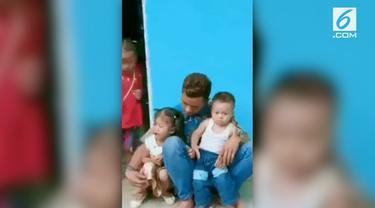 Viral di media sosial tangisan balita yang akan ditinggal ibunya karena akan menjadi TKI.