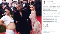 Editan kocak @averagerob bersama dengan Kim Kardashian dan Kanye West (Sumber: Instagram @averagerob)