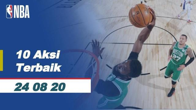 Berita video 10 aksi terbaik NBA hari ini (Senin, 24 Agustus 2020 WIB), termasuk di dalamnya buzzer beater dari bintang Dallas Mavericks, Luka Doncic.