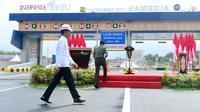 Peresmian jalan tol Samboja - Palaran Kalimantan Timur. (Liputan6.com/Abelda Gunawan)