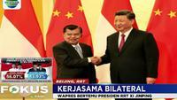 Dalam keterangan persnya, JK mengungkapkan pemerintah Indonesia dan RRT sepakat untuk meningkatkan hubungan perdagangan kedua negara.