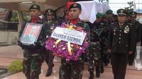 Korban insiden meriam saat latihan PPRC di Natuna itu meninggalkan dua anak balita. (Liputan6.com/Erinaldi)