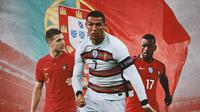 Ilustrasi - Diogo Dalot, Cristiano Ronaldo, Luis Nani (Bola.com/Adreanus Titus)