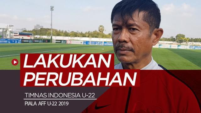 Berita video vlog Bola.com kali ini tentang Timnas Indonesia yang mungkin melakukan perubahan susunan pemain saat menghadapi Malaysia pada laga kedua pada fase grup Piala AFF U-22 2019.