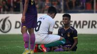 Ibrahim Sanjaya tak bisa membela Persik saat tandang ke markas Sulut United FC, Kamis (8/8/2019). (Bola.com/Gatot Susetyo)