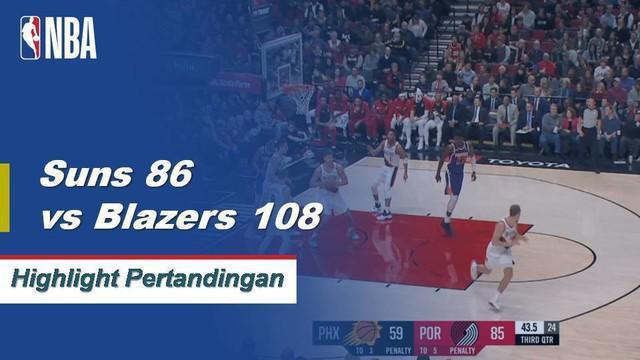 Damian Lillard mencetak 25 poin dengan delapan assist, Jake Layman menambah angka tertinggi dalam karir 24 poin saat Portland menang, 108-86
