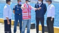 Menteri Perhubungan Budi Karya Sumadi meninjau Terminal Purpose Wae Kelambu, Pelabuhan Labuan Bajo di Kabupaten Manggarai Barat, Nusa Tenggara Timur (NTT) (dok: Kemenhub)
