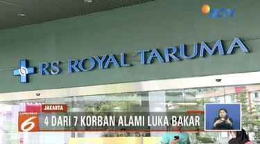 Tiga korban ledakan diduga pipa gas di Mal Taman Anggrek, Jakarta Barat, masih dirawat intensif di RS Royal Taruma, Grogol.