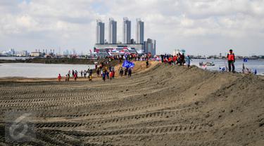 20160417-Penampakan Terkini Bentuk Pulau G Hasil Reklamasi Teluk Jakarta