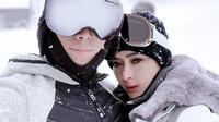 Syahrini main salju di Jepang (Sumber: Instagram/princessyahrini)