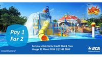 Wahana air yang terletak di Jalan Pahlawan Seribu, BSD City - Tangerang ini mempunyai kolam renang untuk semua umur.