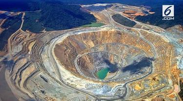 Tambang emas Freeport di Papua adalah salah satu yang terbesar di dunia. Tak hanya emas, tambang ini juga memiliki kandungan bijih lain, yakni tembaga dan perak.