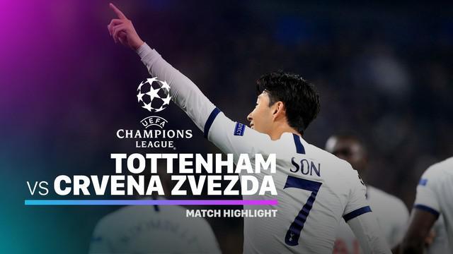 Berita video highlights matchday 3 Grup B Liga Champions 2019-2020 antara Tottenham Hotspur melawan Crvena Zvezda yang berakhir dengan skor 5-0, Selasa (22/10/2019).