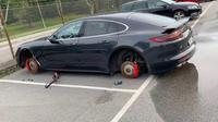 Roda Porsche Panamera Dicuri (Carscoops)