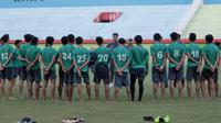 Timnas Indonesia U-16 membidik dua uji coba menjelang Piala AFF U-16 2018. (Bola.com/Zaidan Nazarul)
