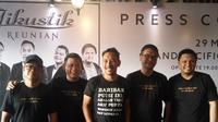 Jumpa pers konser Jikustik Reunian di Yogyakarta, Kamis (28/3/2019). (Switzy Sabandar)