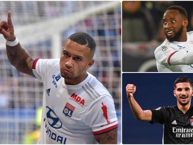 Bayern Munchen memang diunggulkan saat berhadapan dengan Lyon. Namun, Lyon memiliki pemain andal yang bisa mengubur mimpi Munchen lolos ke final Liga Champions. Berikut 5 pemain Lyon yang bisa mengubur ambisi Bayern Munchen lolos ke final Liga Champions 2019/2020. (kolase foto AFP)