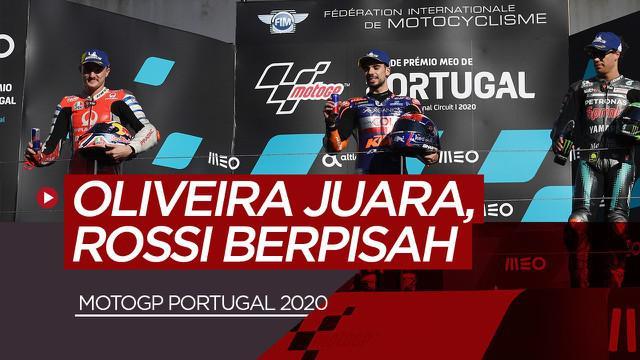 Berita video hasil balapan MotoGP 2020 Sirkuit Portimao, Miguel Oliveira tercepat dan farewell Valentino Rossi dengan Yamaha