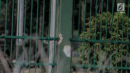 Kondisi pagar gedung Dewan Perwakilan Rakyat (DPR) yang dirusak dan dijebol massa aksi mahasiswa di Senayan, Jakarta, Selasa (24/9/2019). Bagian pagar itu sebelumnya rusak oleh massa aksi mahasiswa yang menolak revisi UU KPK dan RUU KUHP. (Liputan6.com/Faizal Fanani)
