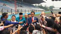 Presiden Joko Widodo atau Jokowi di Sentul. (Liputan6.com/Hanz Jimenez Salim)