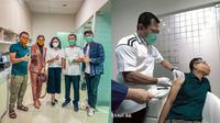 Keluarga Asix menerima suntik vaksin Nusantara dari dr. Terawan. (Instagram/@ashanty_ash/YouTube/The Hermansyah A6)