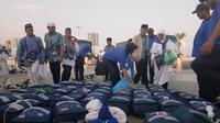 Jemaah haji yang tersisa di Madinah kurang dari 90 kloter. (www.haji.kemenag.go.id)