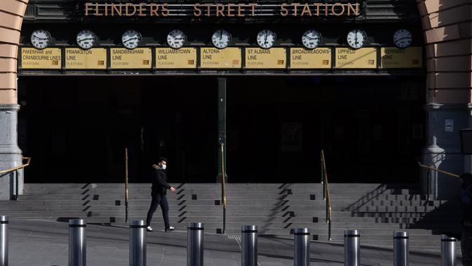 FOTO: Suasana Melbourne saat Pemberlakuan Lockdown