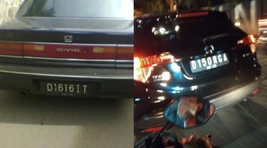 6 Tulisan Pelat Nomor D di Mobil Ini Bikin Pengemudi Lain Tepuk Jidat