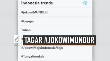 Media sosial twitter diramaikan dengan tagar #JokowiMundur. Tagar ini menjadi trending topic nomor satu di Indonesia.