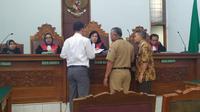 Sidang wali murid SMA Kolase Gonzaga gugat sekolah di Pengadilan Negeri Jakarta Selatan, Senin (4/11/2019). (Merdeka.com/Nur Habibie)