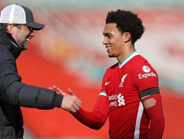 FOTO: Dramatis, Liverpool Taklukan Aston Villa di Menit Akhir Lewat Gol Trent Alexander-Arnold