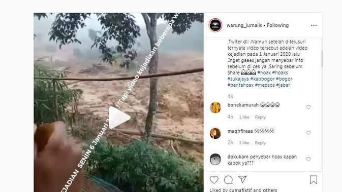 [Cek Fakta] Viral Video Longsor Hari Ini di Cigudeg, Fakta atau Hoaks?